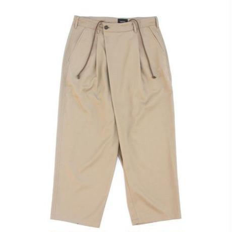 Wrap Trouser 改 - Tencel Slab Gabardine / Khaki