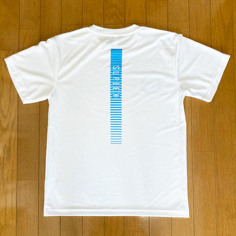 SUPLEXドライTシャツ(ホワイト×ライトブルー)