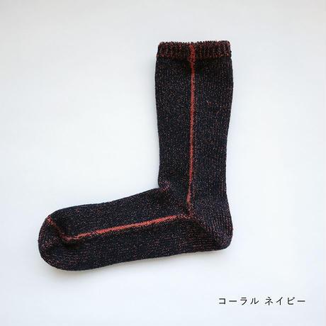 内側シルクの呼吸する靴下 レディース〚LE1316〛