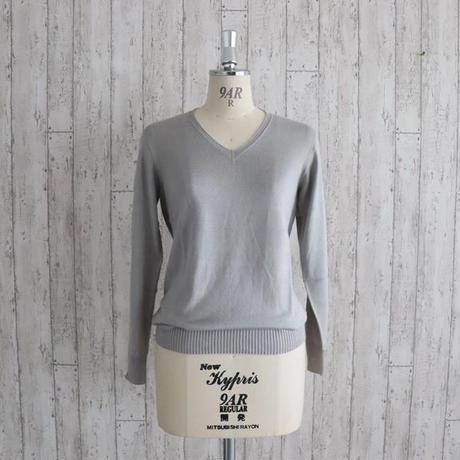 スパンシルクスムースタッチVネックセーター〚SW0087〛