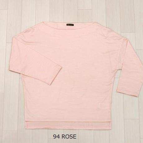 【数量限定】シルクカットソー  (Boat neck T shirt)〚TE0634〛