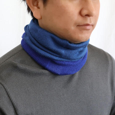 KOHARU シルクネックウォーマー<2 TONE  COLOR >〚NE0664〛
