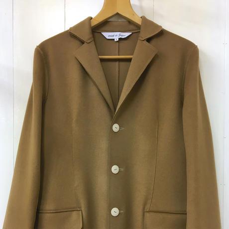 Felted Wool Coat / Light Brown