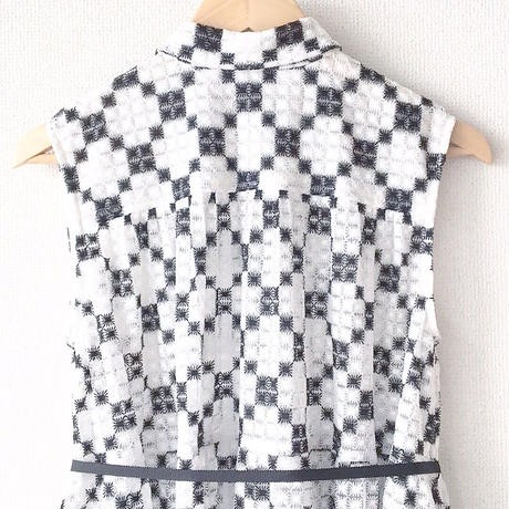 sleeveless gathered op / 03-7305001
