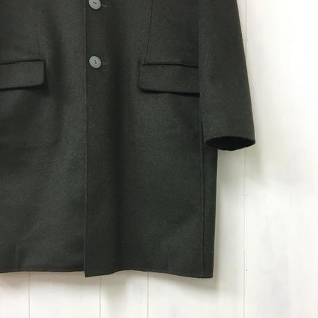 Felted Wool Coat / Dark Green