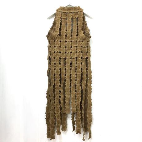 Woven Lace Vest / Light Brown