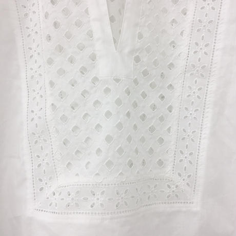 Patched Lace Blouse  / Off White