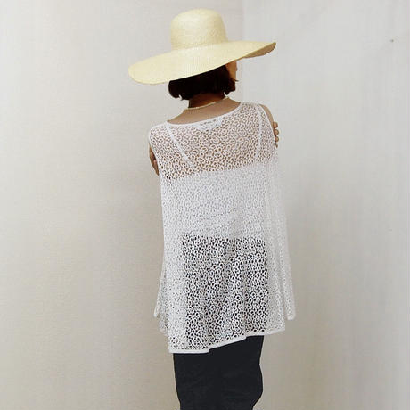 Flared Lace Top / Off White