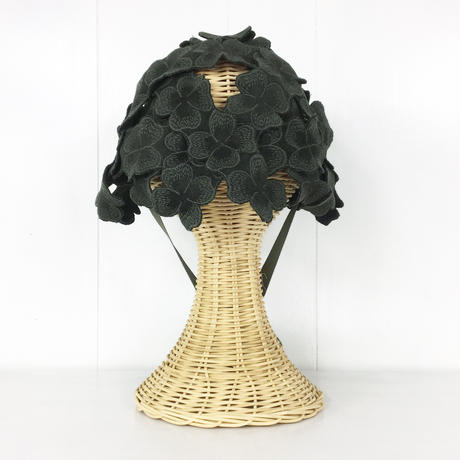 Woven Lace Hat / Dark Green