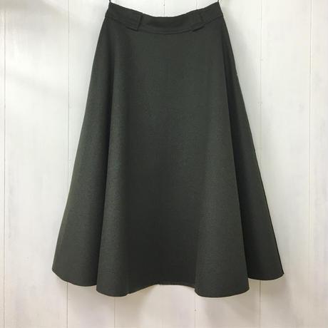 Felted Wool Skirt / Dark Green