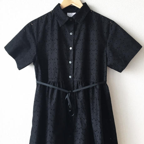 gathered button down op / 03-7205006