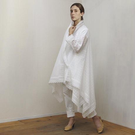 Drape Lace Robe / Off White