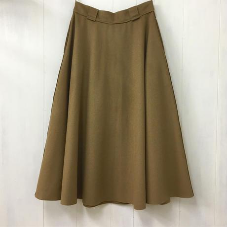 Felted Wool Skirt / Light Brown