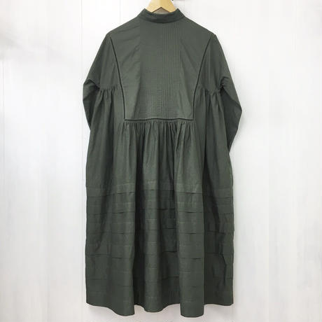 Pintuck Gathered Shirt Dress / 03-9205003