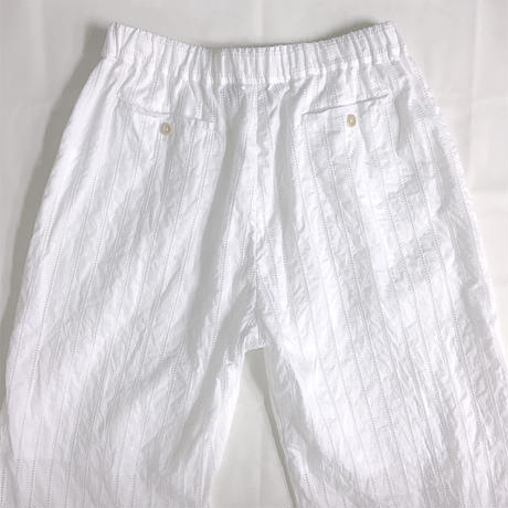Striped Embroidery Pants / Off White