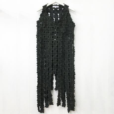 Woven Lace Vest / Dark Green