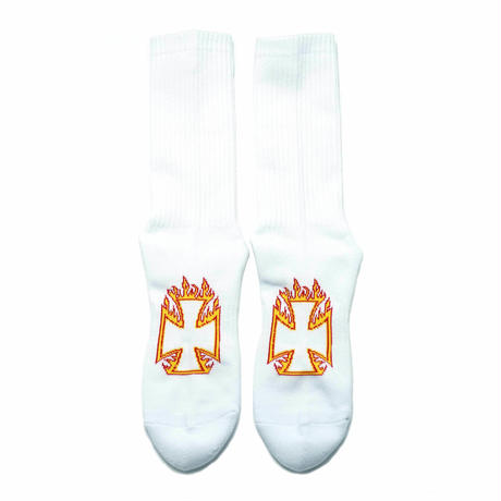 Burn to Raise Hell Socks  FIRE/WHITE