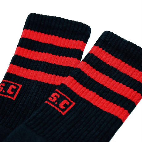 SOCCO × S.S.C Classic Authentic Socks Black / Red