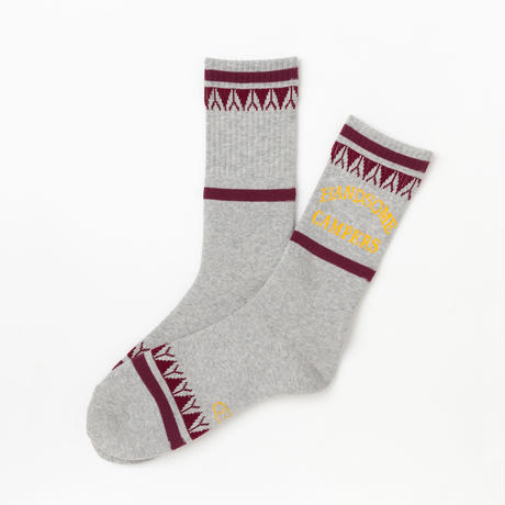 Handsome Oxford × S.S.C Camper Socks GRY/BRG