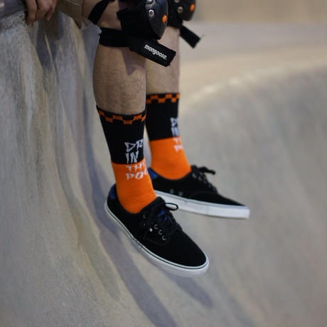Pool Socks BLK/ORG