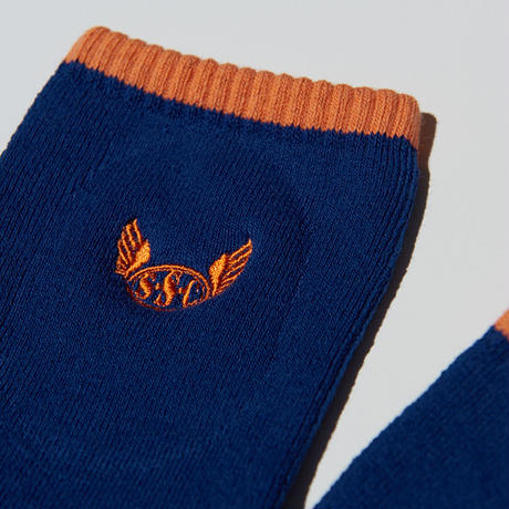 S.S.C Field socks. BLU/ORG