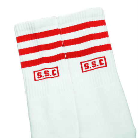 SOCCO × S.S.C Classic Authentic Socks Red