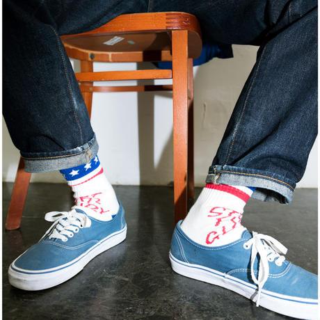 STEP FOR GLORY Line Socks RED/BLU