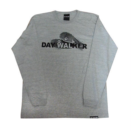 """DAY WALKER"" Long Sleeve Tee GRAY"