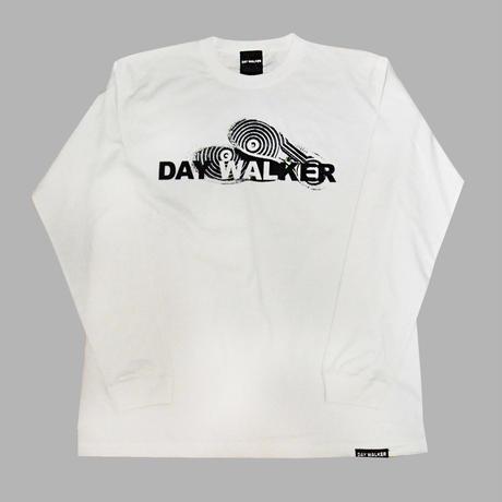 """DAY WALKER"" Long Sleeve Tee WHITE"
