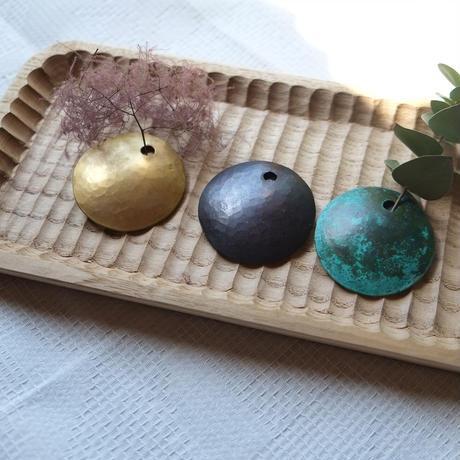 池田晴美 ちい咲く 銅、真鍮、緑青