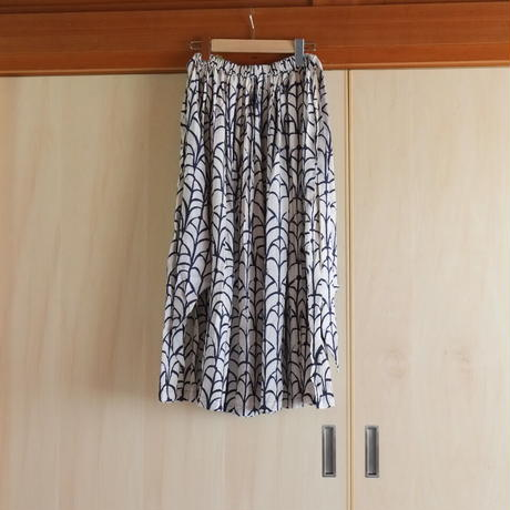 Bo Treeのリボンスカート 葉っぱ柄