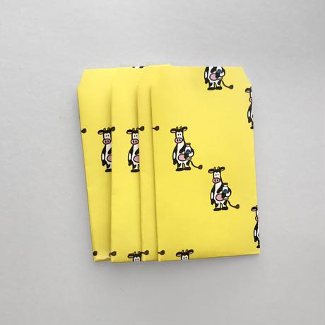 黄のウシ ポチ袋