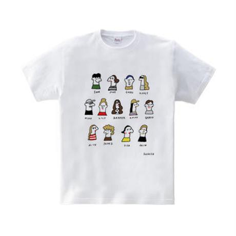 5.6 oz / brooch people  T-shirt / インクジェットプリント