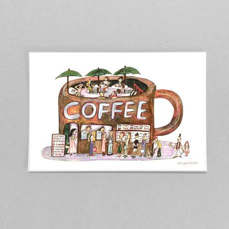 POST CARD|行列のできるCOFFEE屋さん
