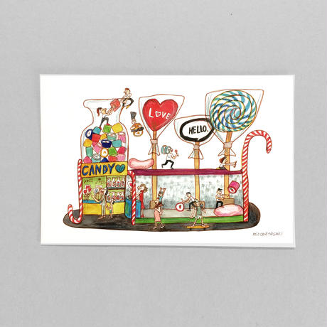 ①POST CARD わいわい CANDY SHOP