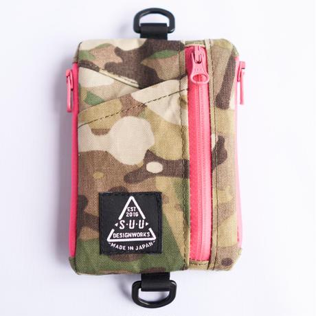 multi pouch(マルチカム×ピンクファスナー)