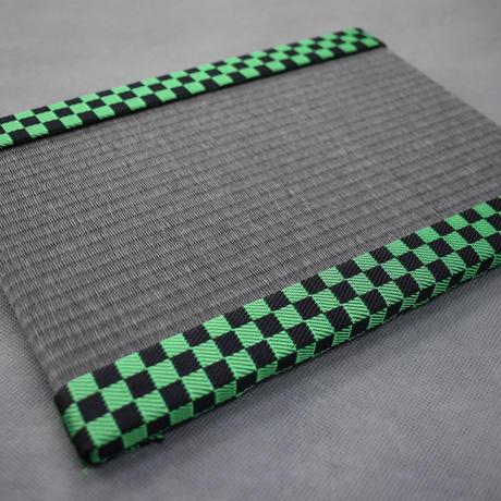 【限定!】ミニ畳 市松模様緑 大人気アニメ仕様 和紙表ver