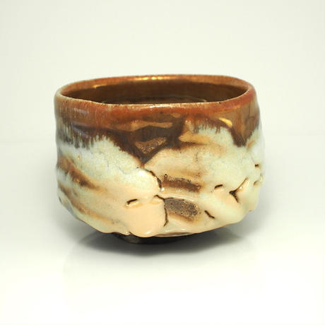 No.147:Gold SHINO Tea Bowl「金志埜茶盌」