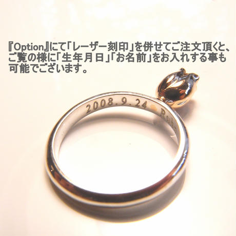 Garden Baby Ring | Tulip | silver × silver