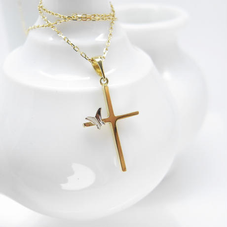 Cross+蝶 necklace | G-series