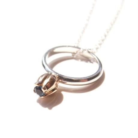 Garden Baby Ring | Tulip | pink gold × silver