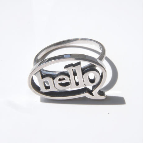 baby!! balloon+hello ring | silver