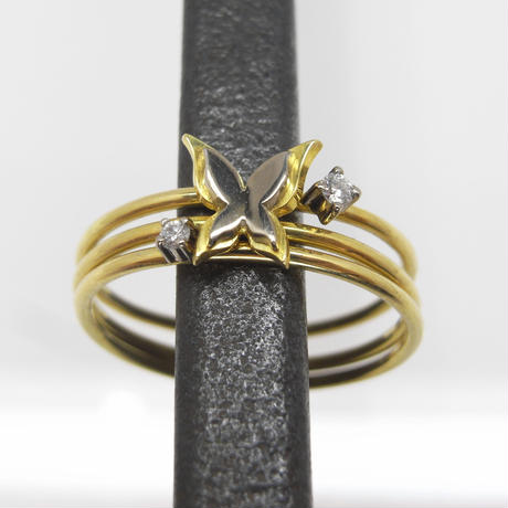 sottile - layer butterfly ring
