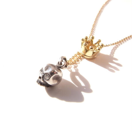 baby skull × baby crown | sv × k18yg with diamond