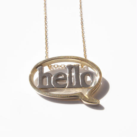 baby!! balloon+hello necklace | k18yg×k18wg