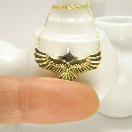 baby eagle necklace | k18yg × k18wg