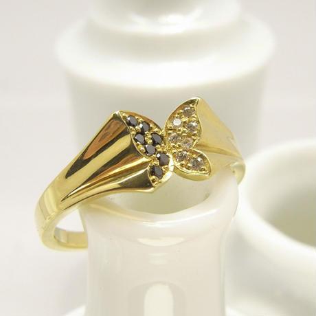 bijou butterfly Ring | black dia × dia