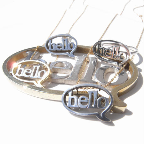 baby!! balloon+hello necklace | silver×k10yg