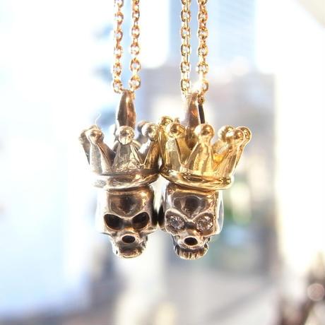 baby skull × baby crown   sv × k18yg with diamond