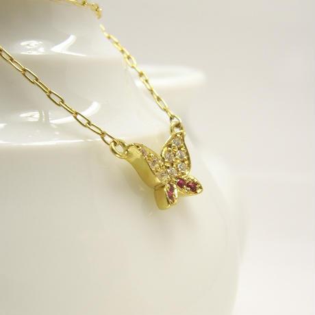 bijou butterfly necklace | dia × ruby